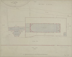 [Drawn Plan of the Water Works and the Duke of Gloucester Riding House]